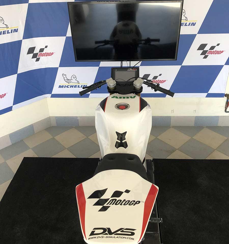 Simulateur d'entrainement Motogp officiel des pilotes de moto GP avec DVS