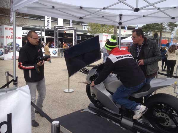 Simulateur d'entrainement Motogp officiel des pilotes de moto GP